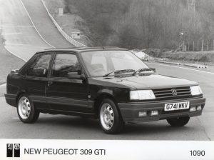 Peugeot 309 GTI Press Photo – G 741 WKV