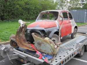 Fiat 500 & Vespa Scooter Barn Find