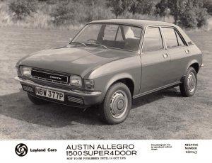 Austin Allegro 1500 Super 4 Door Press Photo – NBW 377 P
